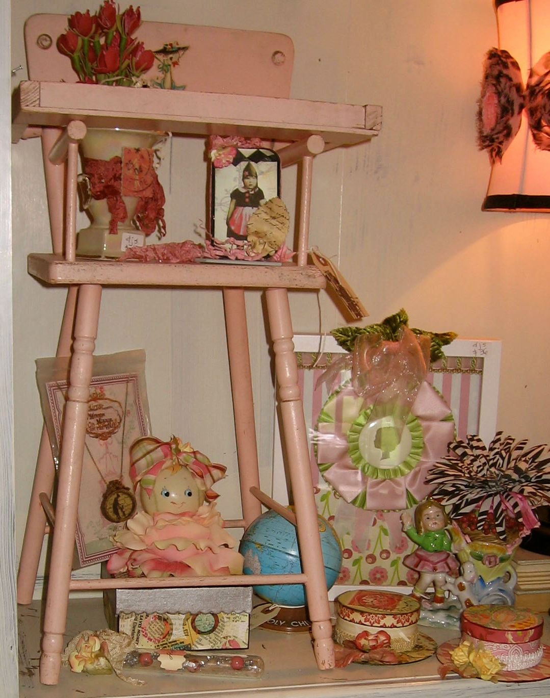 burlington high chair white chinese chippendale dining chairs pink  bumble bee forest kids vintage baby