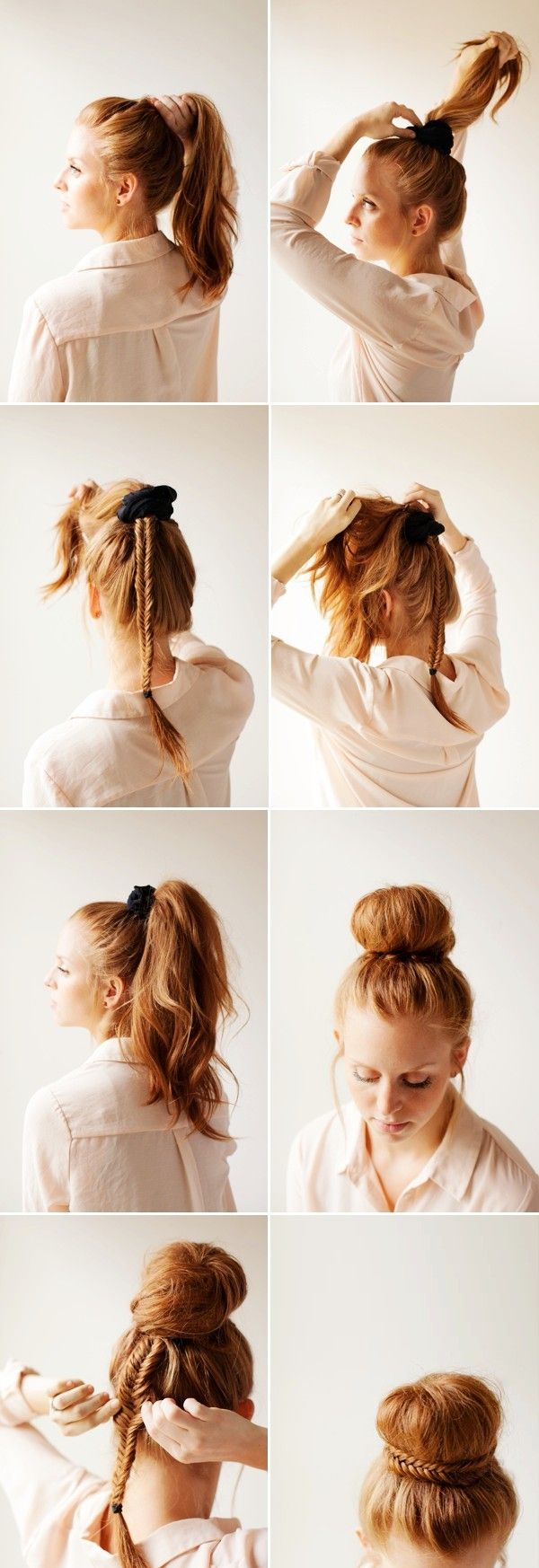 WEDDING DAY HAIR: ELEGANT FISHTAIL BUN HOW TO