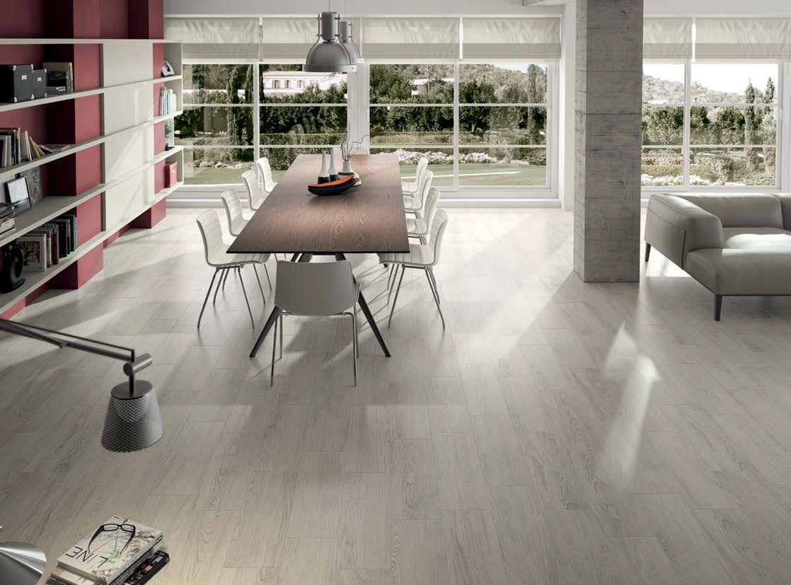 Modern Living Room With Light Ceramic Timber Flooring