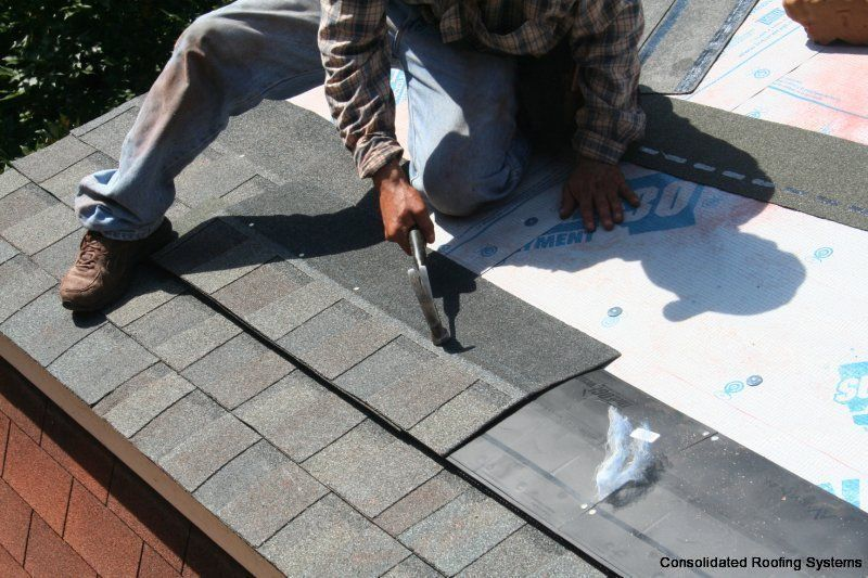 This Is A Modified Intake Ventilation That Was Installed On A Roof In Raleigh Nc Since The House Had Zero Overhand For Soffit Ridge Vent Roofing Home Cooler