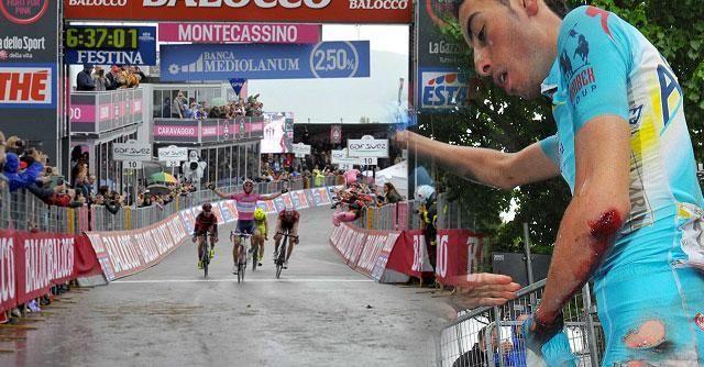 Giro d'Italia 2014, Matthews vince e rimane in rosa nel giorno delle cadute