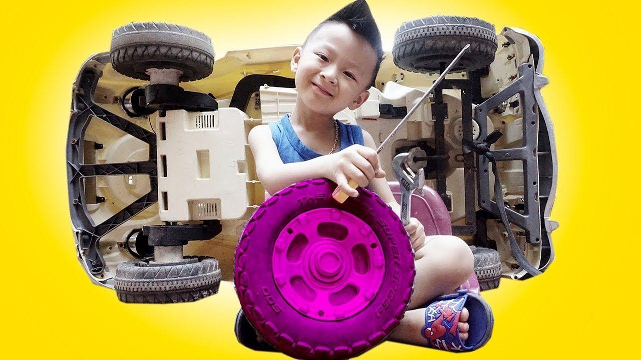 Little car toys  Five Little Kids Repair Car Toys Kids Build Automotive Johny Yes