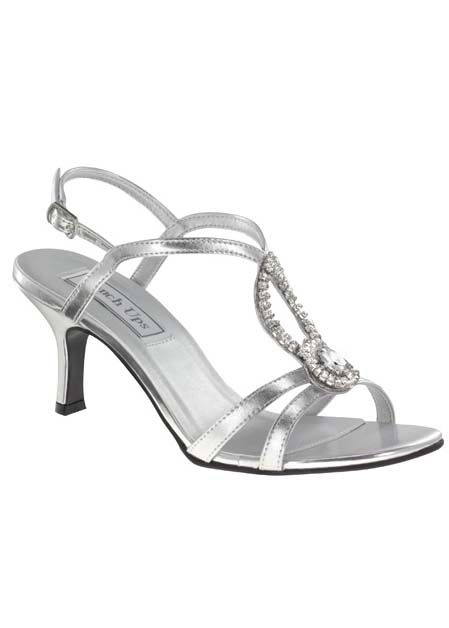 Touch Ups Mindy 440 - Silver Strappy Jeweled Prom Dress Shoes Online  #thepromdresses