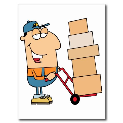 Funny Cartoon Mover Organizing For A Move Moving Company Moving And Storage