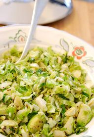 Recipe - Hashed Brussels Sprouts With Lemon Zest (HarperCollins, 1994) - NYTimes.com