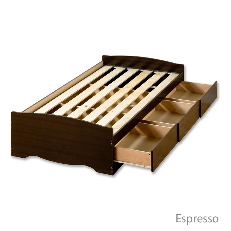 Twin xl platform bed frame plans woodworking projects for Bed frame plans