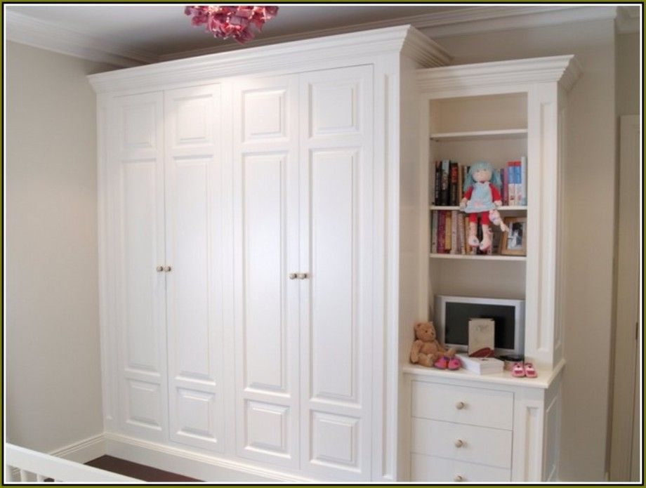 Free Standing Closet Wardrobe With Sliding Doors Organizers