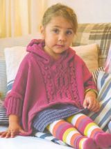 Alexa Poncho from Aran and Nordic Knits For Kids by Martin Storey
