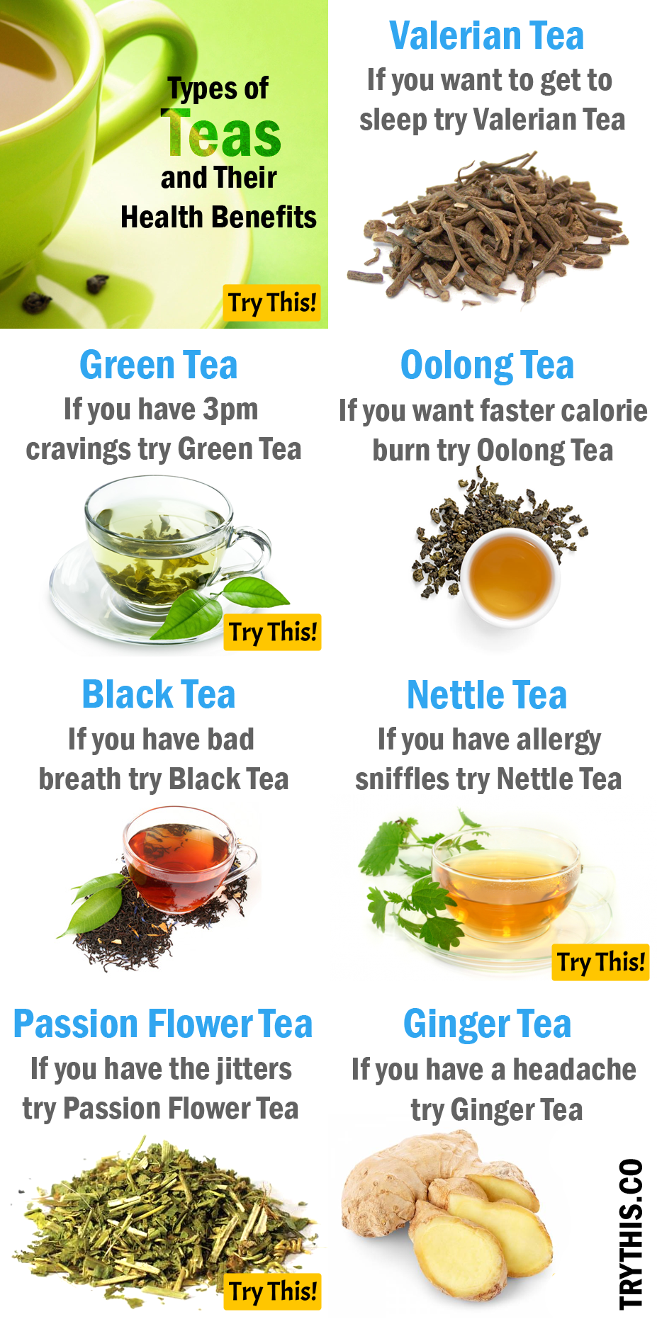 Types Of Teas And Their Health Benefits Health Healthy