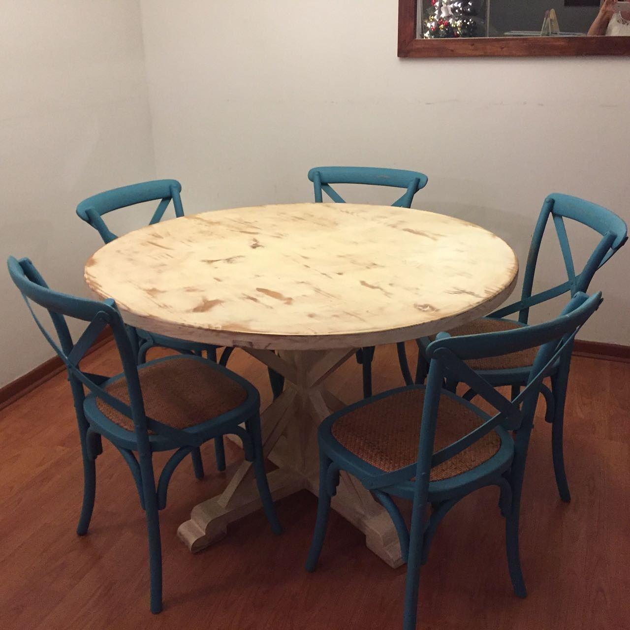 Se ve increíble @cata.vallejos!! Mesa de pino insigne de 120 cms de ...