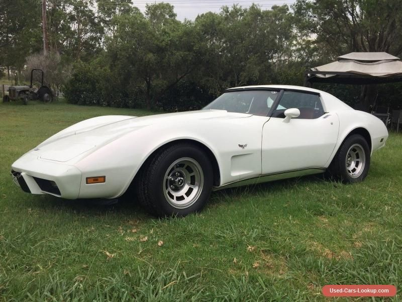 Car For Sale 1977 Pearl White Chevrolet Corvette Stingray Coupe