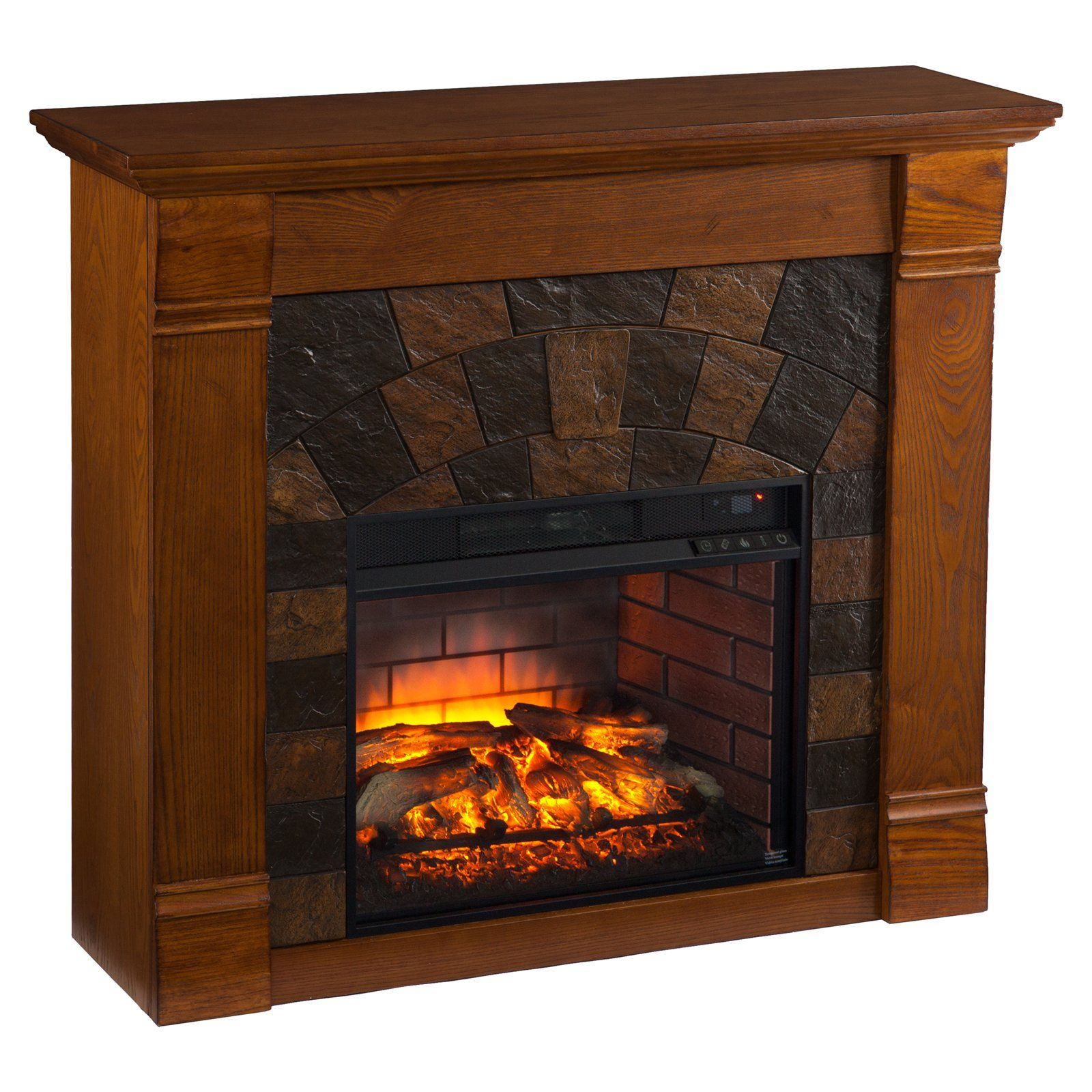 rustic rock electric fireplace at menards fireplaces electric rh pinterest com