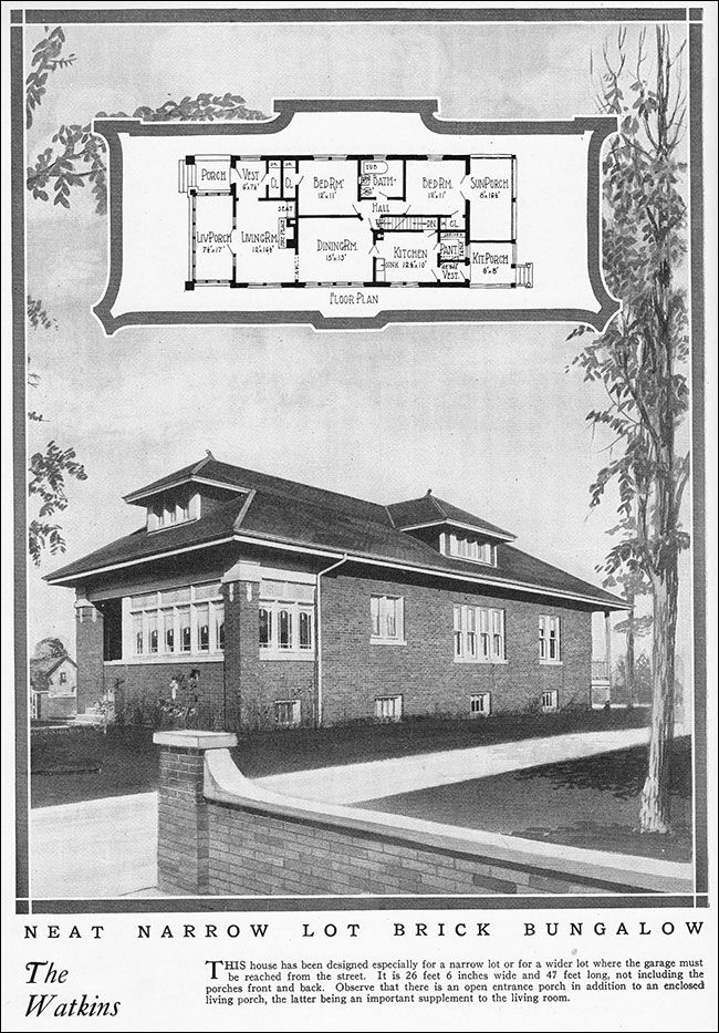 1925 chicago style bungalow vintage house plan for a