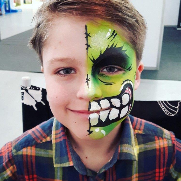 Superhelden Schminken Fasching Kinder Jungs Hulk Fasching Party
