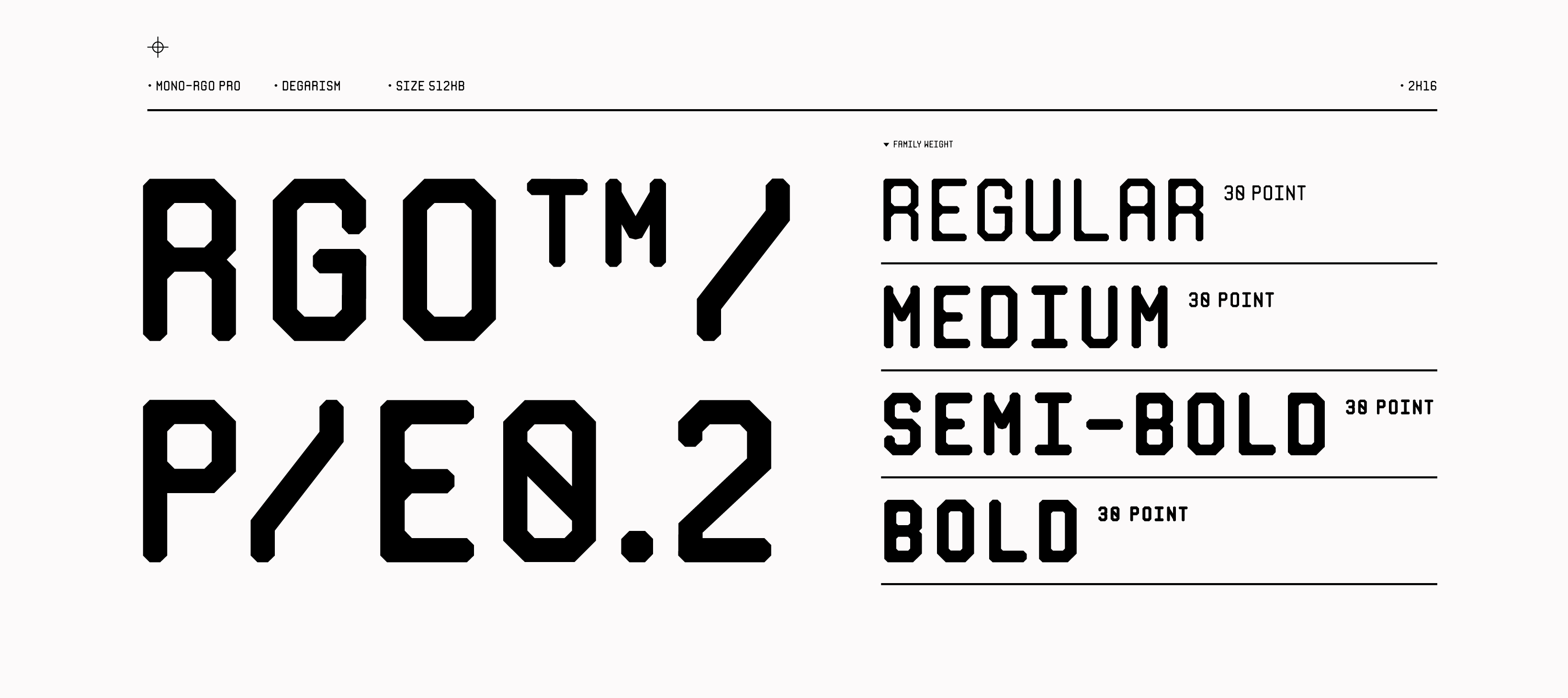 MONO RGO™ Based Modular type-space inspired by monospace, Modernism