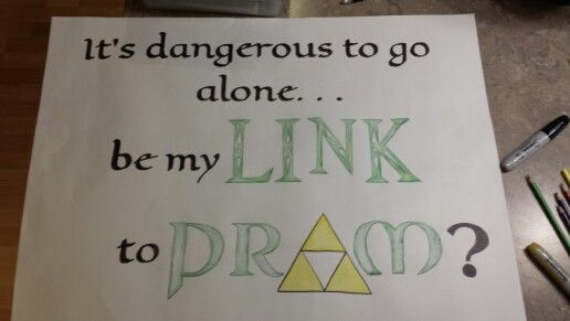 Geeky Legend Of Zelda Promposal I Asked My Boyfriend With This At