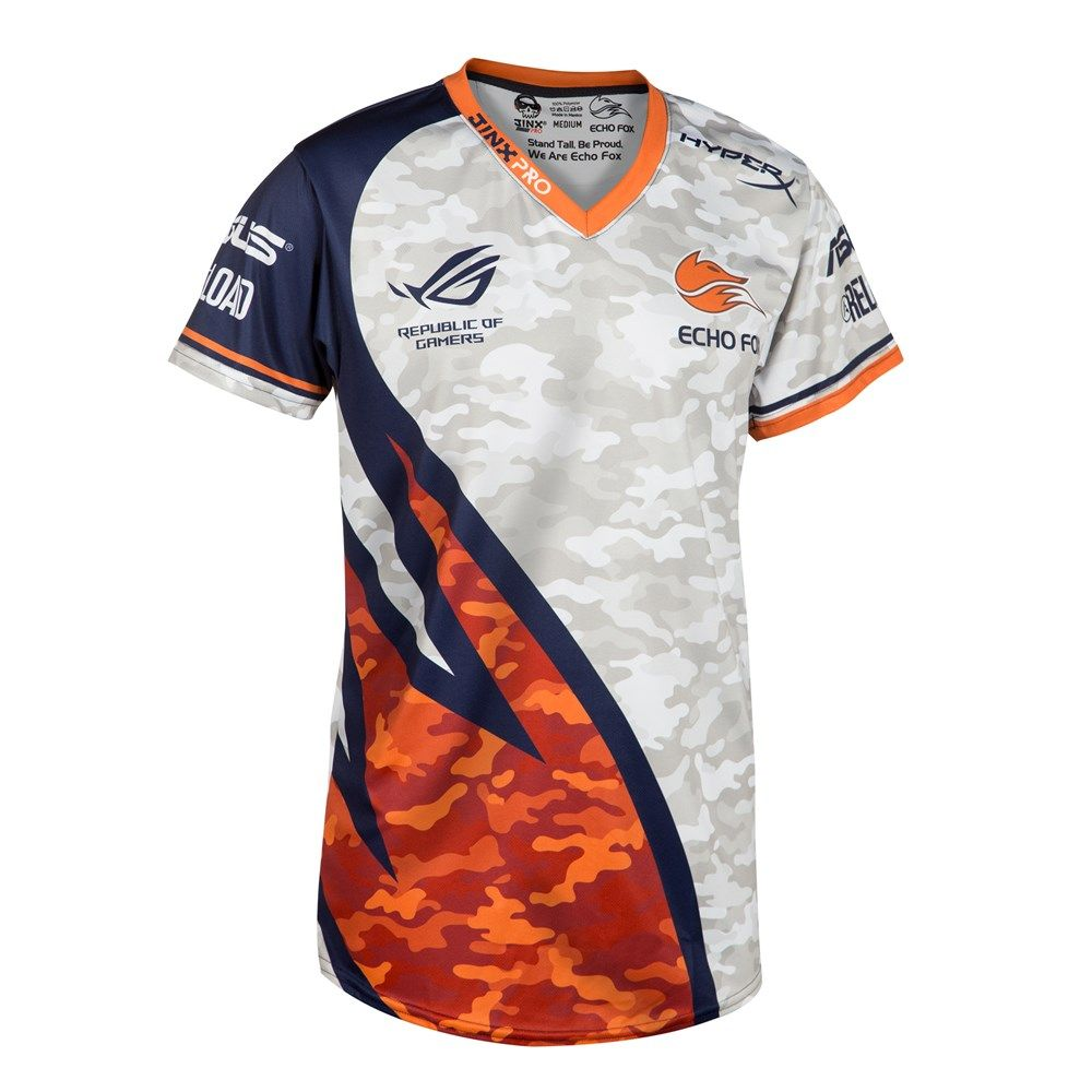 It 39 S Here The Limited Edition Camo Variant Of Our Iconic Echo Fox Jersey Is Available While Sport Shirt Design Sports Jersey Design Soccer Tshirt Designs