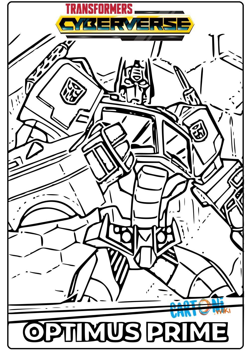 Transformers Cyberverse Optimus Prime Da Colorare E Stampare Per