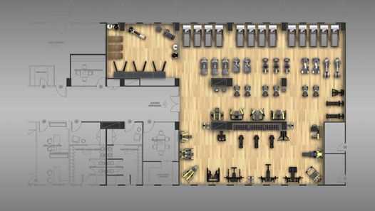 Fitness Center Layout Design Medical Clinic Pinterest