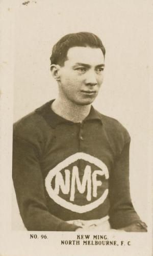 """Les Kew Ming """"The Fighting Footballer"""". Ming was one of the early Australian Rules players who were Chinese."""