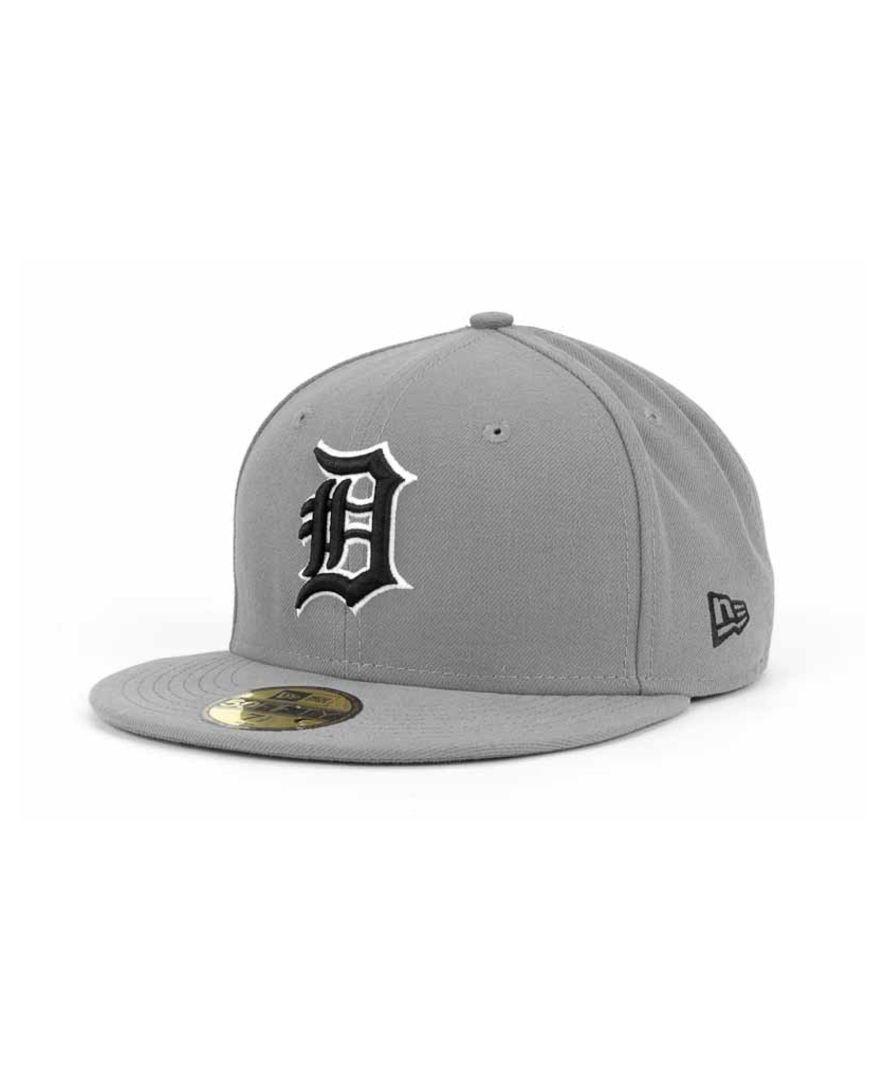 official photos a29ed 76125 New Era Detroit Tigers Mlb Gray Bw 59FIFTY Cap