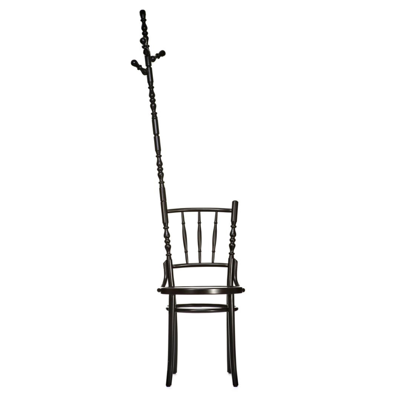 Extension Chair by Sjoerd Vroonland, sedia in faggio massiccio con la possibilità di tre estensioni diverse, 2010