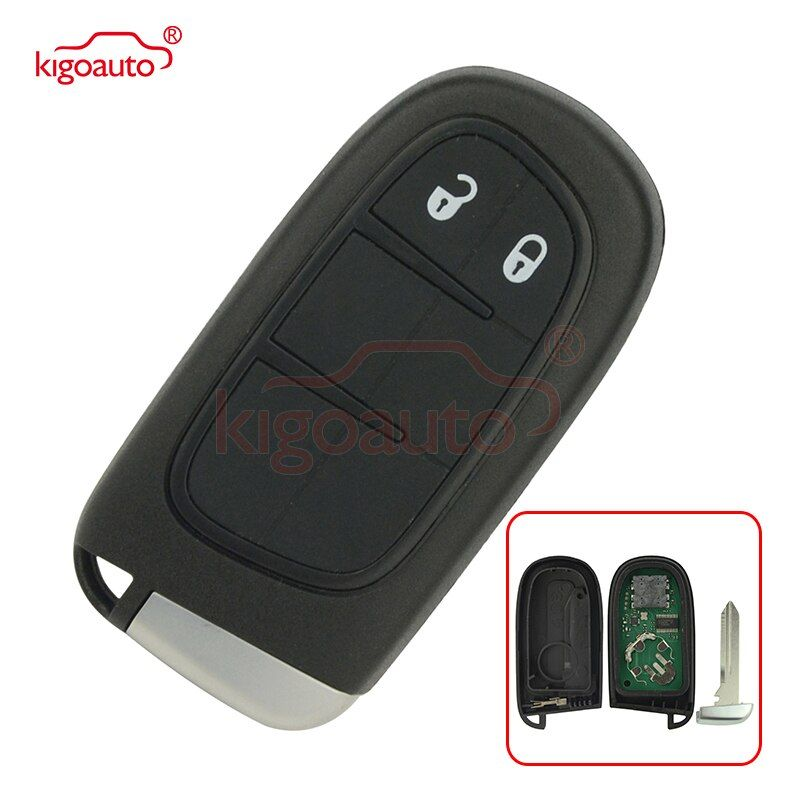Kigoauto Gq4 54t Smart Car Key For Dodge Chrysler Jeep Cherokee 2014 2015 2016 2017 Keyless Entry 2 Button 433mhz Car Remote Key Aliexpress New In 2019 Sma
