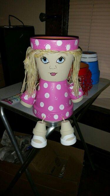 "Flower pot girl pink ""Caitlyn"""
