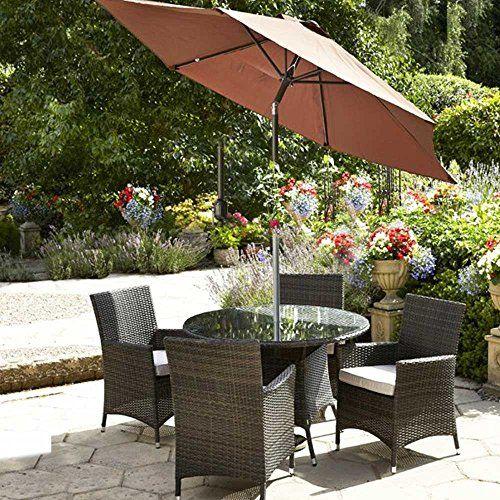Rattan Aluminium 4 seater Luxury Dining set Garden Furniture with