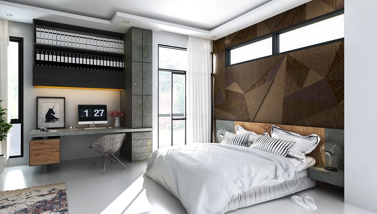 Bedrooms With Beautiful Wall Textures Httpwwwhome - Bedroom wall textures ideas inspiration 2