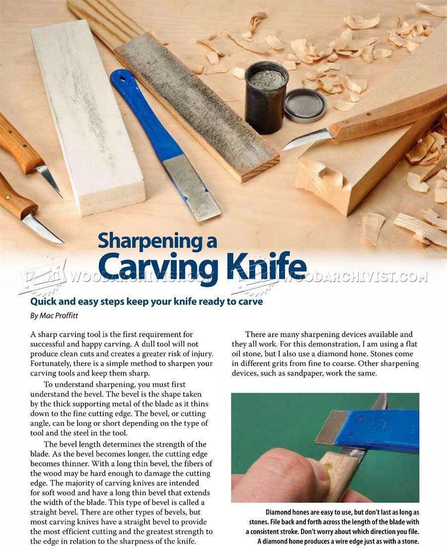 1656 Sharpening Carving Knives Sharpening Wood Carving B