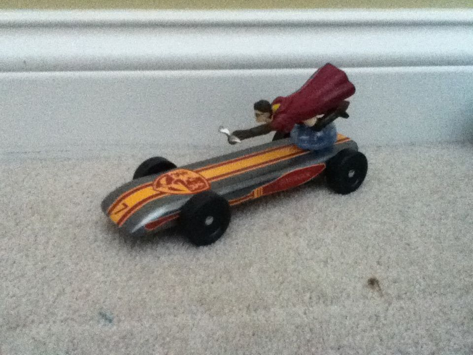 Harry Potter Pine Wood Derby Car Use Lego Figure Pinewood