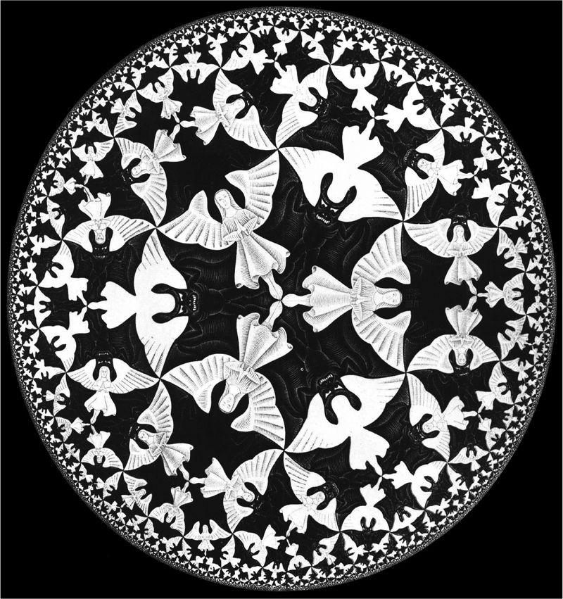 M.C. Escher, Circle Limit IV (1960) The Angels And Devils