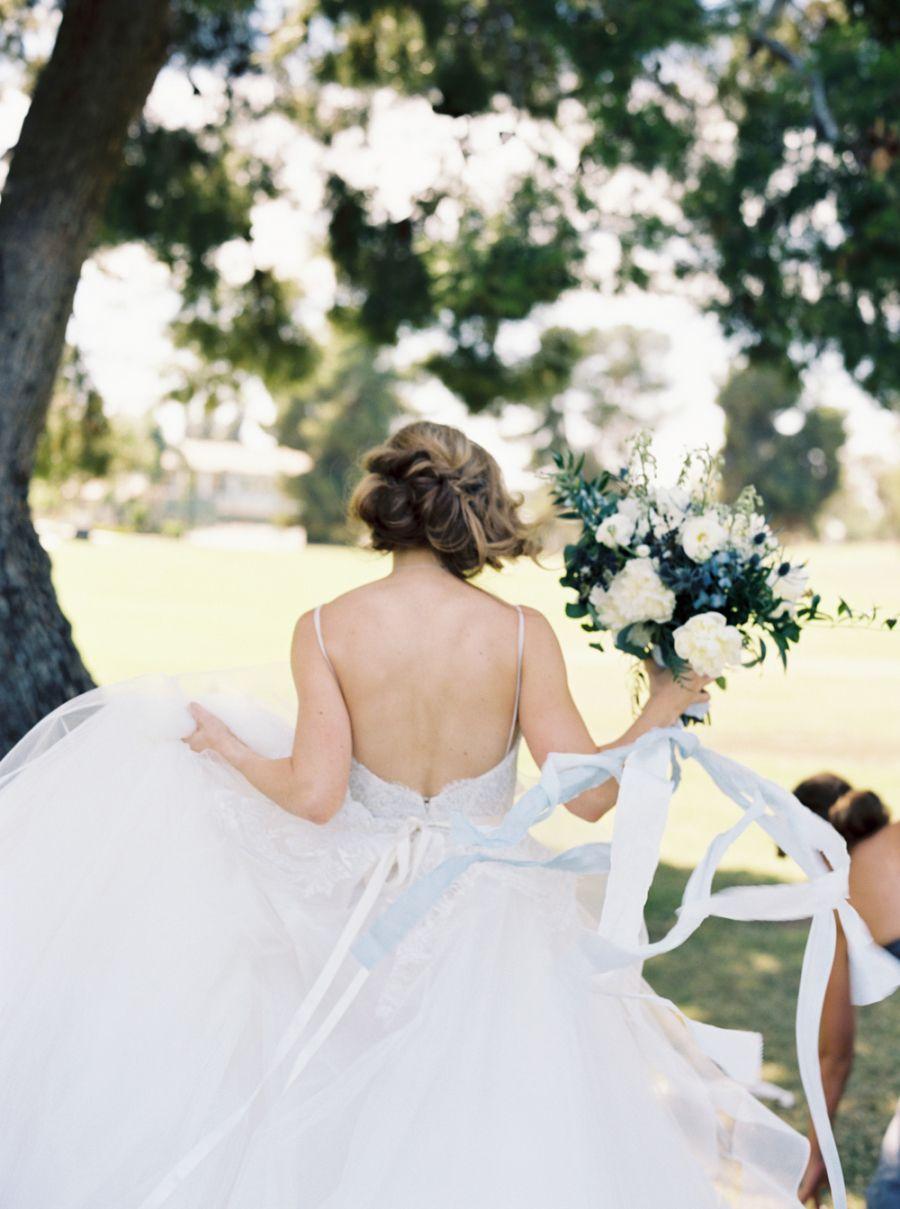 Traditional bluehued wedding in california pinterest california
