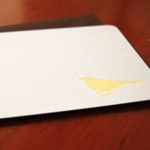 big bird letterpress notecards