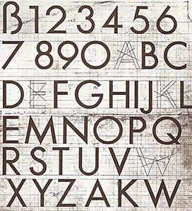 Bocetos preliminares de las mayúsculas de Futura, 1925