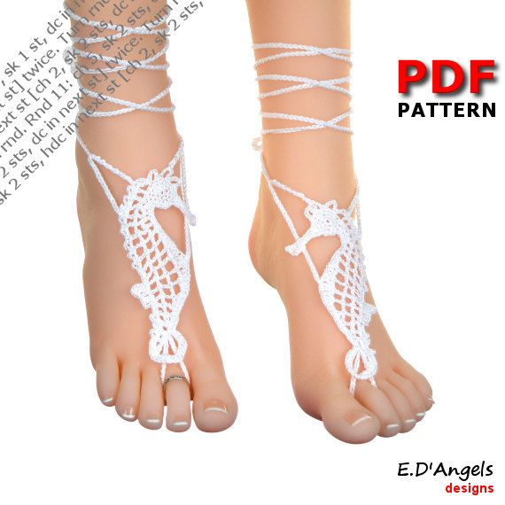 Barefoot Sandals | Crochet Pattern | Barefoot Sandals Pattern ...