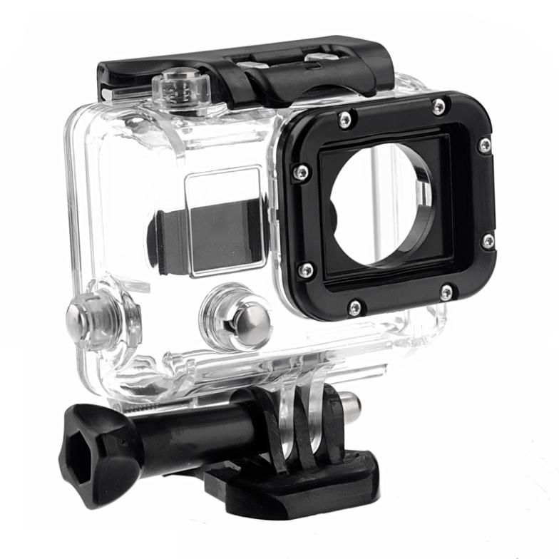 Skeleton Housing Case With Lens for GoPro HD Hero 3 4 Side opening