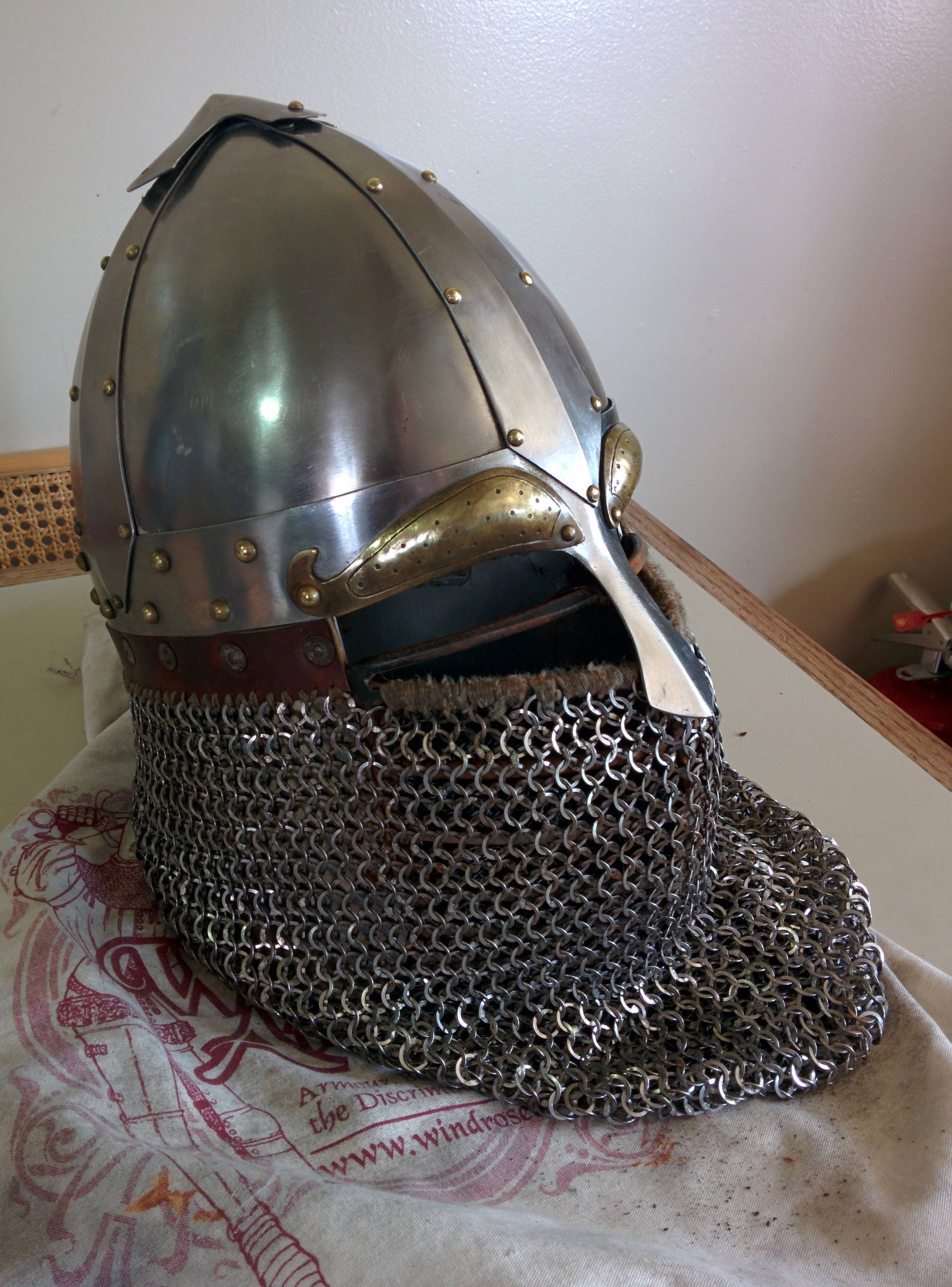 Varangian Helmet   SCA   Helmet, Riding helmets, Viking garb