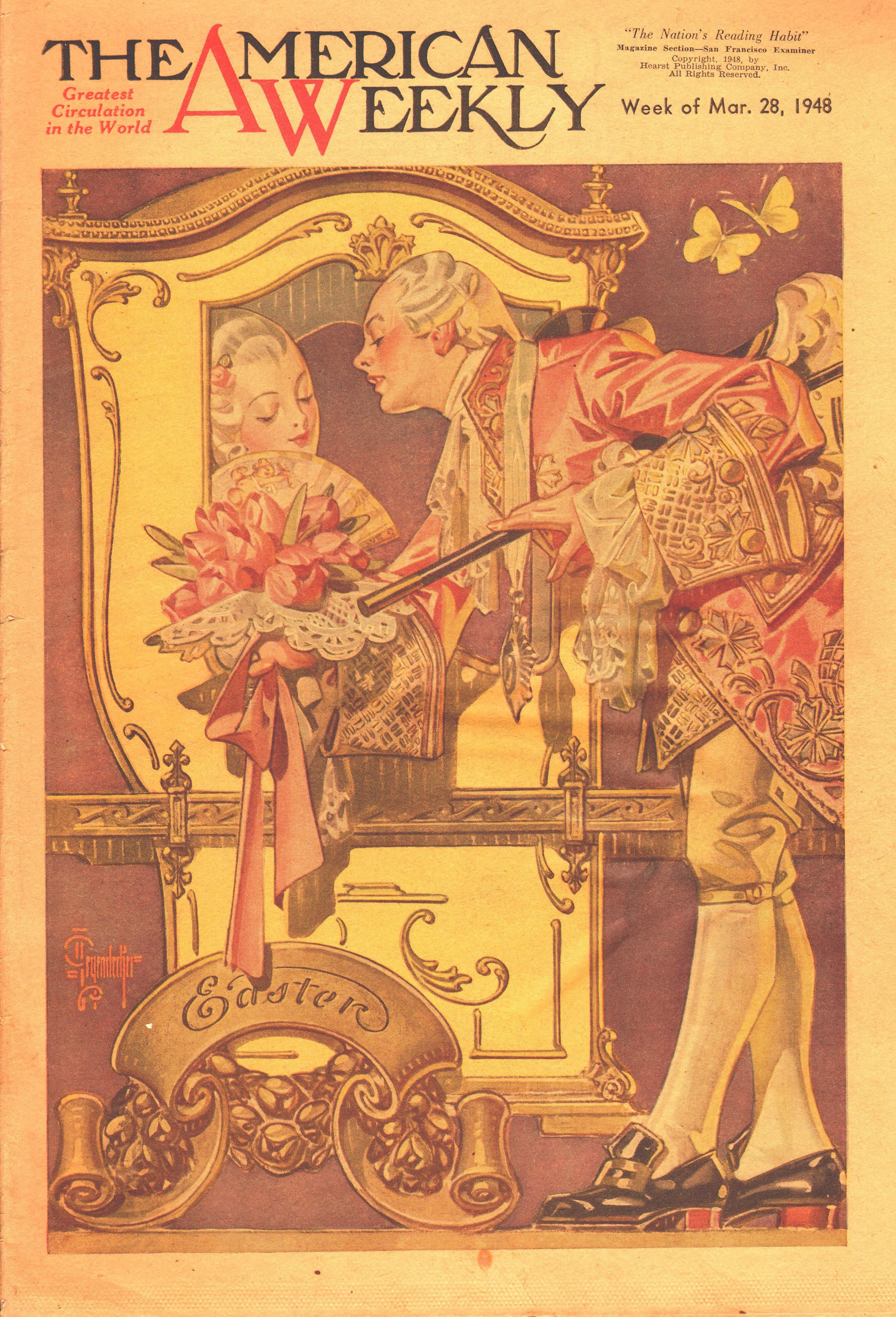 J. C. Leyendecker The American Weekly Magazine cover