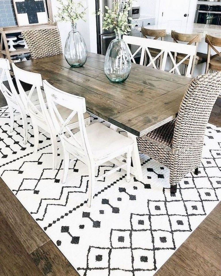 Oval Rug Under Dining Table