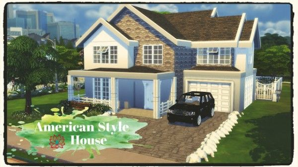 dinha gamer american style house sims 4 downloads simmin pinterest. Black Bedroom Furniture Sets. Home Design Ideas