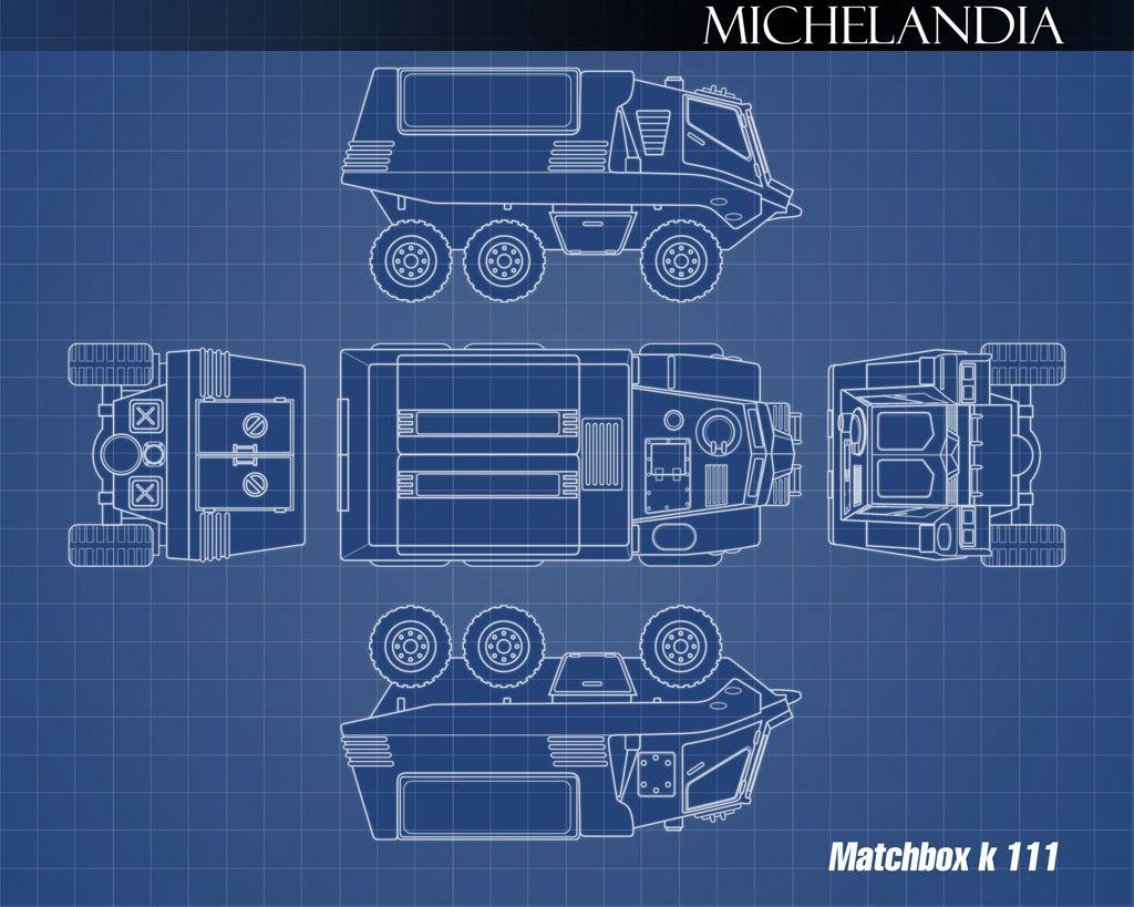 Matchbox Battle Kings K-111 Missile Launcher the best design machtbox, illustration by michelandia.com