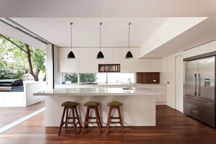 Cocina abierta a salón y terraza | vivienda | Pinterest | Cocinas ...