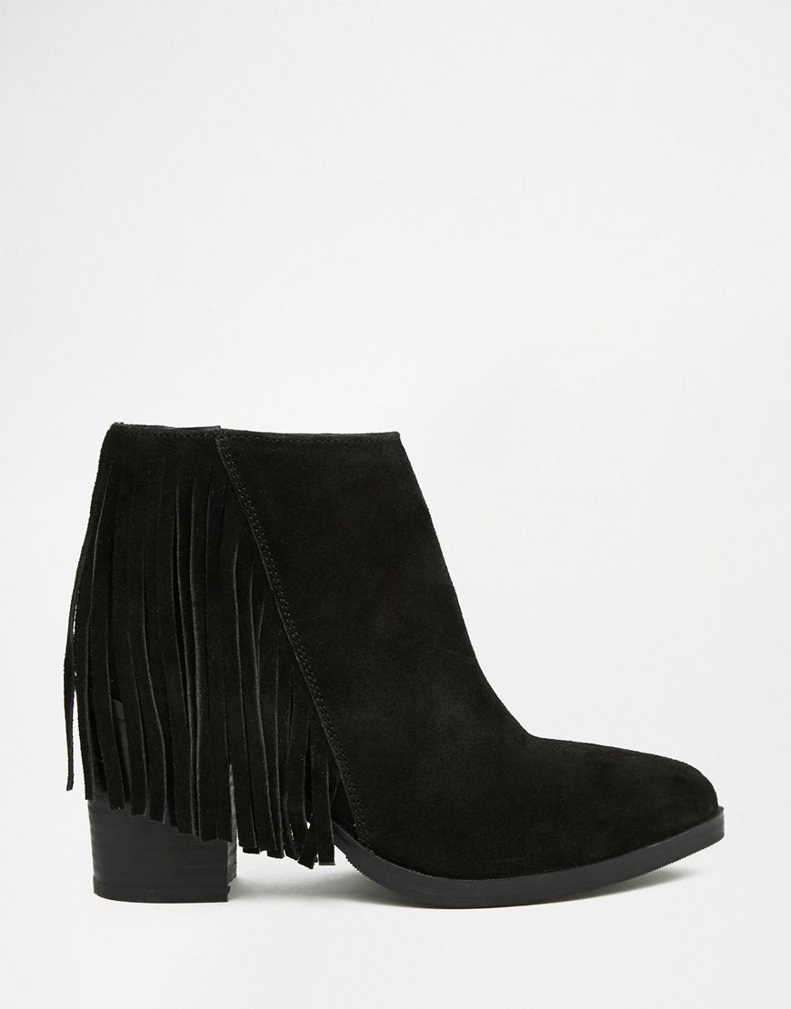 Image 3 of ASOS RILEY Suede Fringe Ankle Boots | Shoe Lover ...