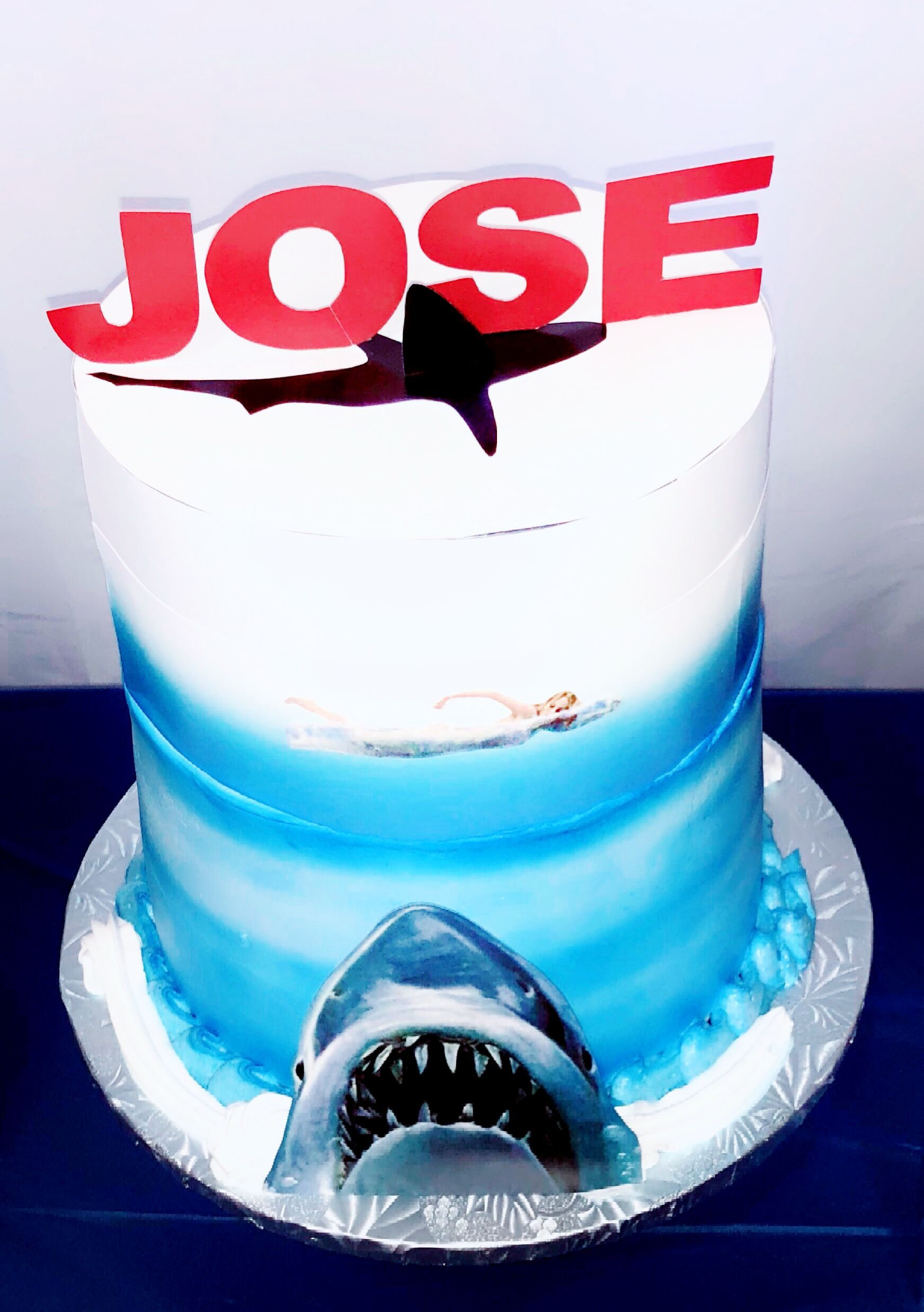 Jaws Cake Jaws Birthday Cake Pinterest Birthday Cakes And Cake