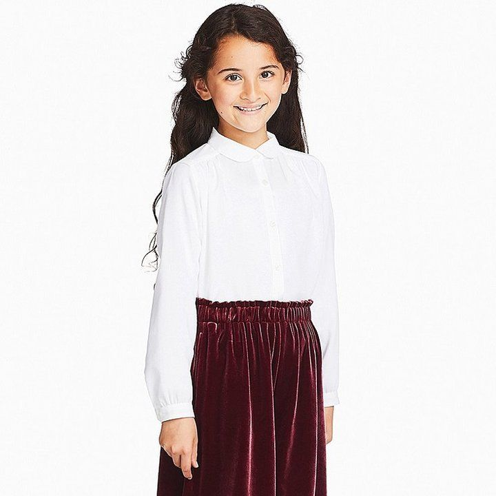 def4476654a581 Girls rayon long-sleeve blouse (online exclusive) | Products ...