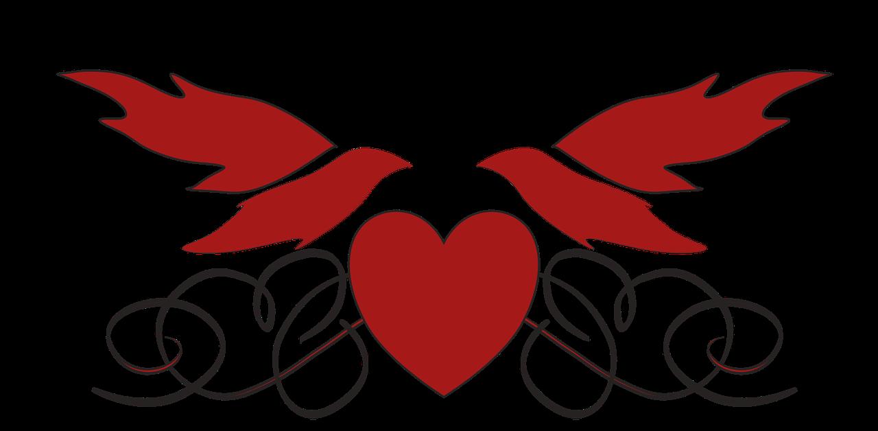 Wedding heart doves love romance transparent icon wedding heart
