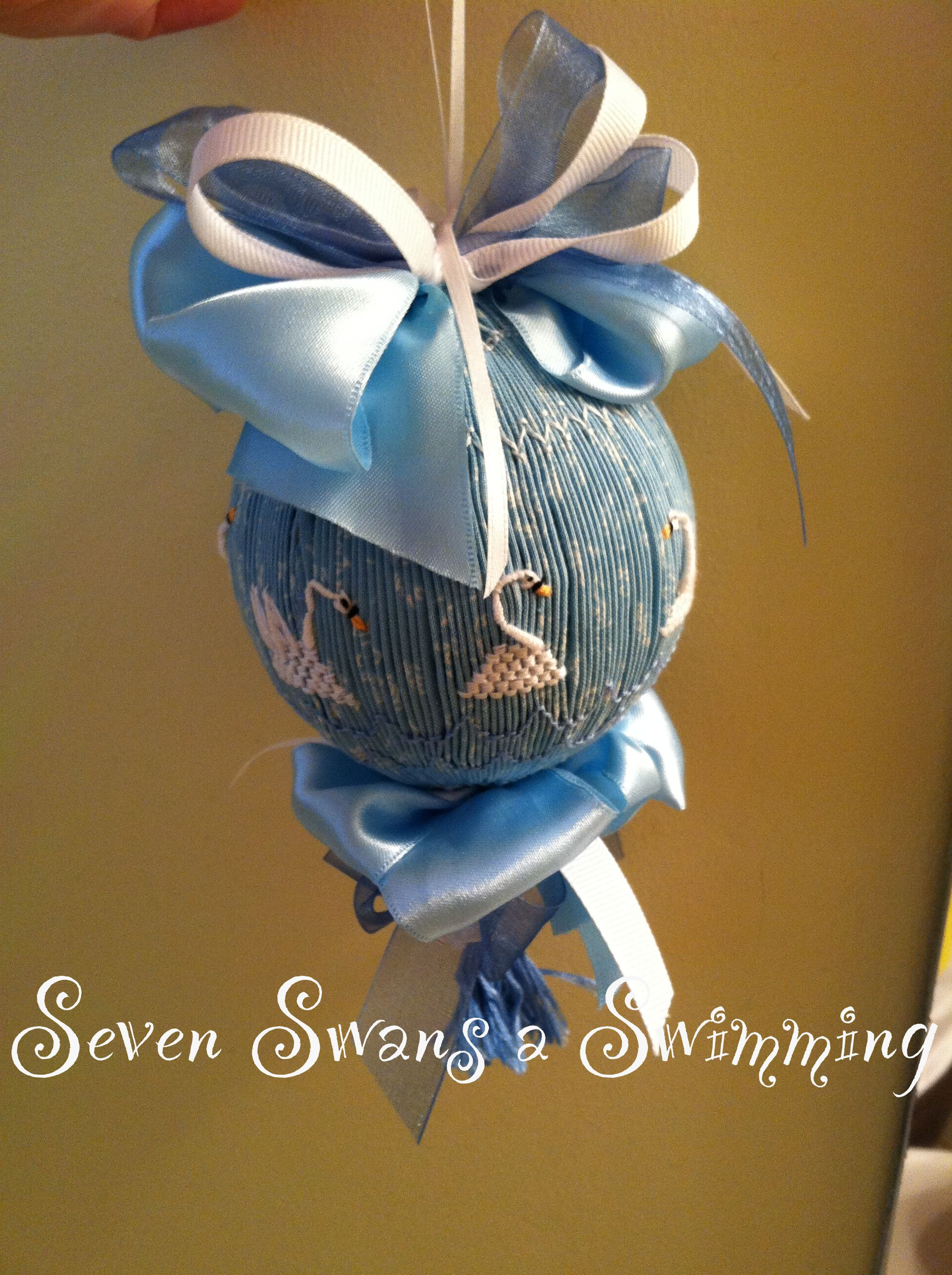 Smocked ornament from my 12 Days of Christmas series...   Everything ...
