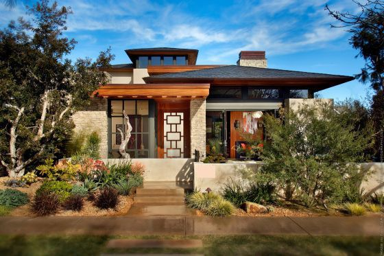 A Custom Home With A Man Cave Twist Prairie Style Houses Prairie Style Architecture Craftsman House